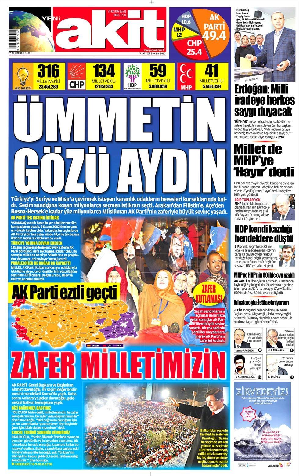 Seçim manşetleri 18