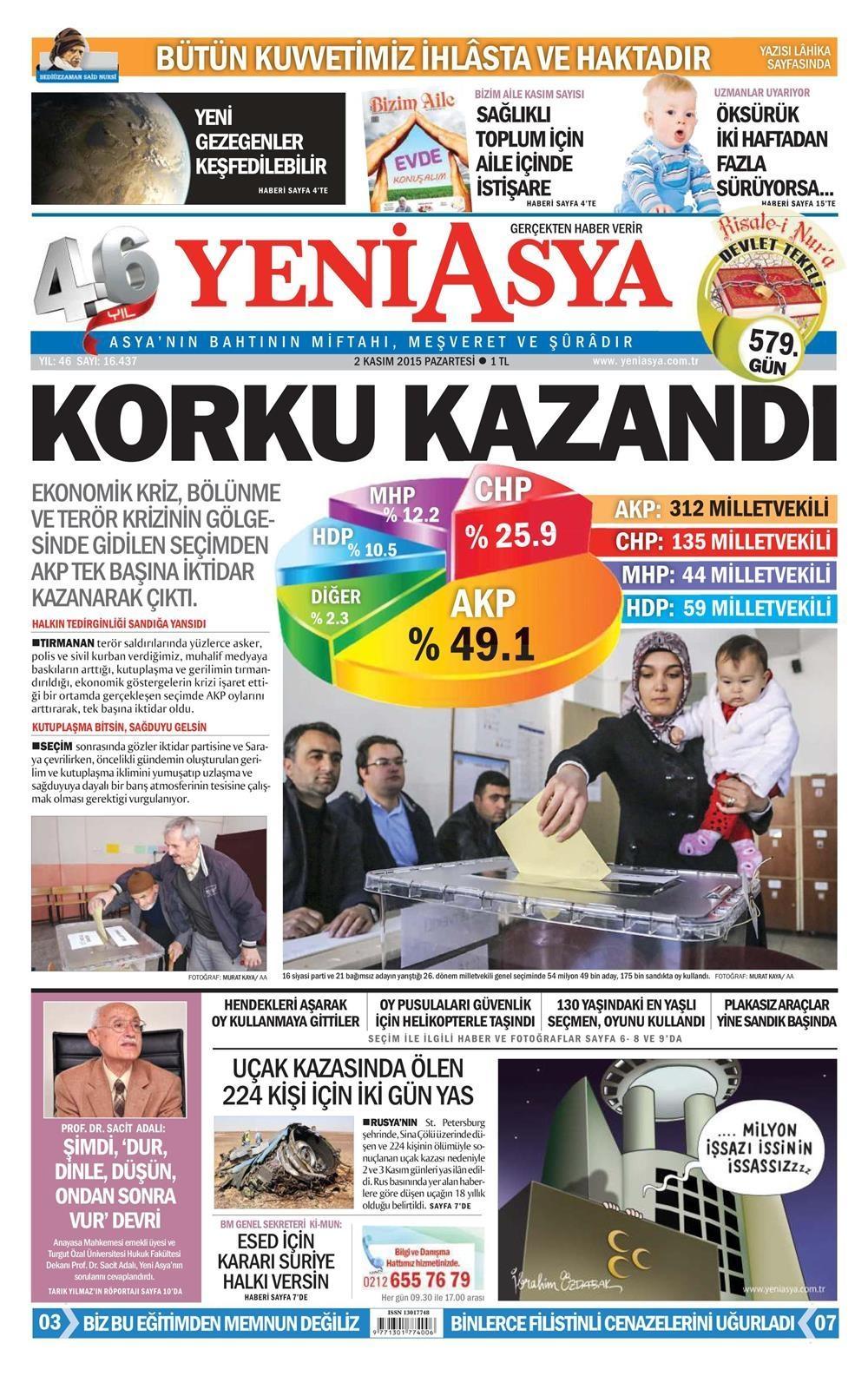 Seçim manşetleri 20