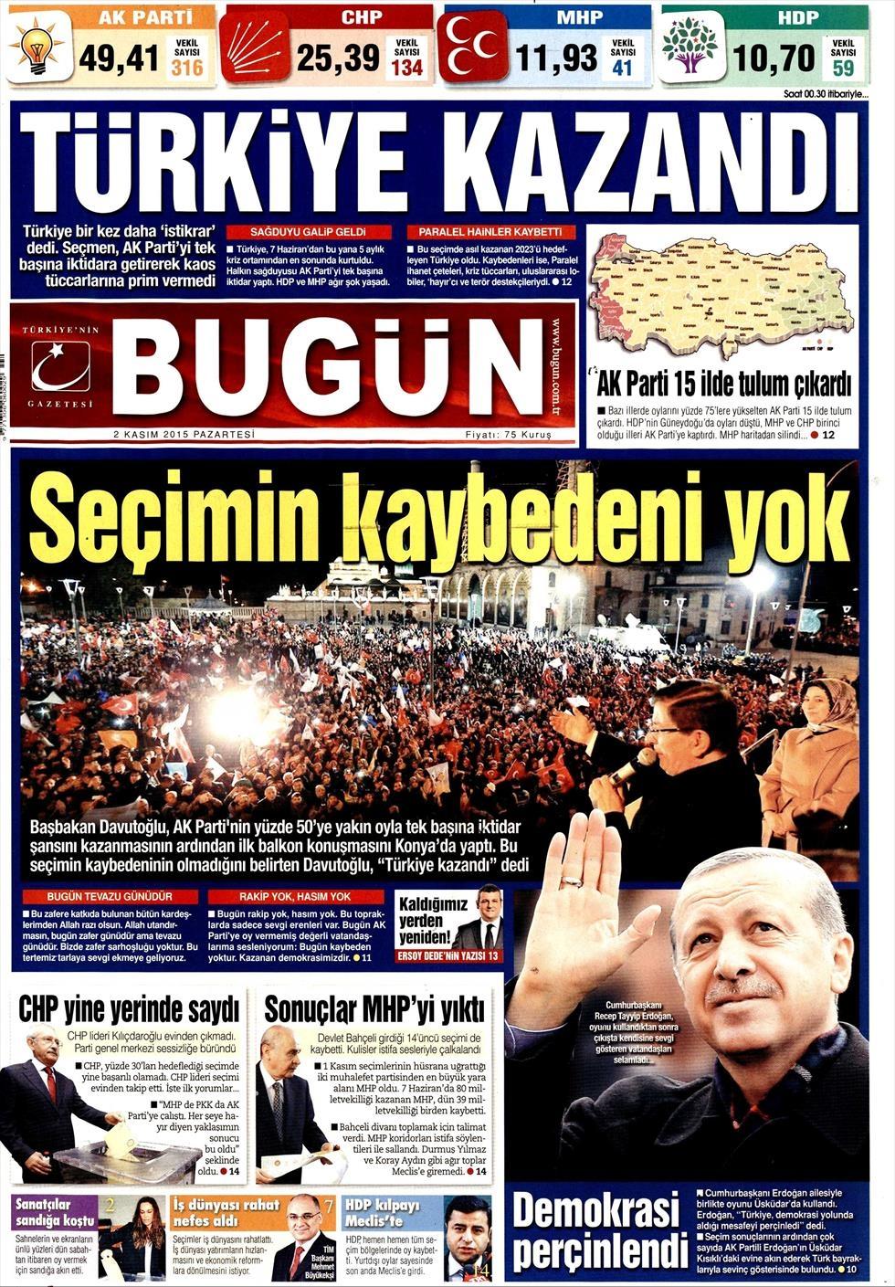 Seçim manşetleri 3