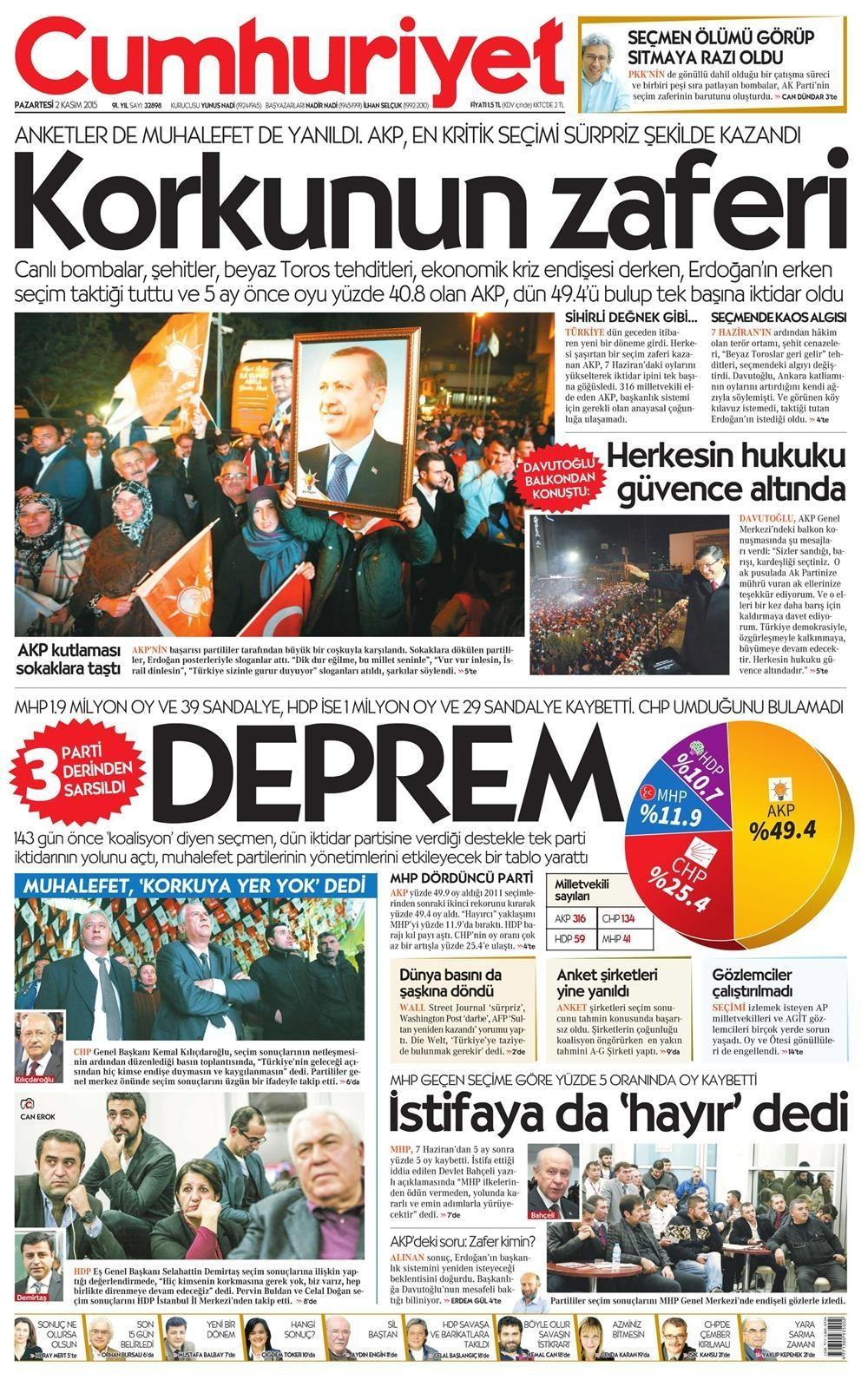 Seçim manşetleri 4