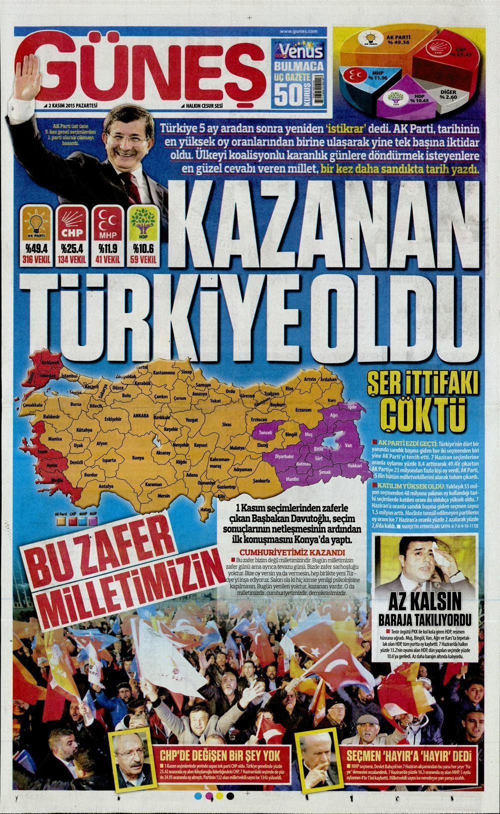 Seçim manşetleri 6
