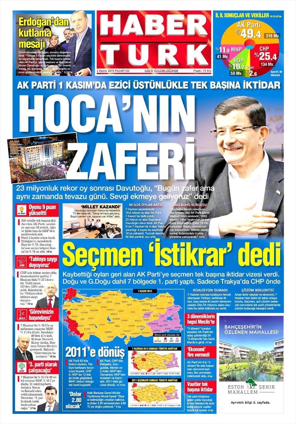 Seçim manşetleri 7