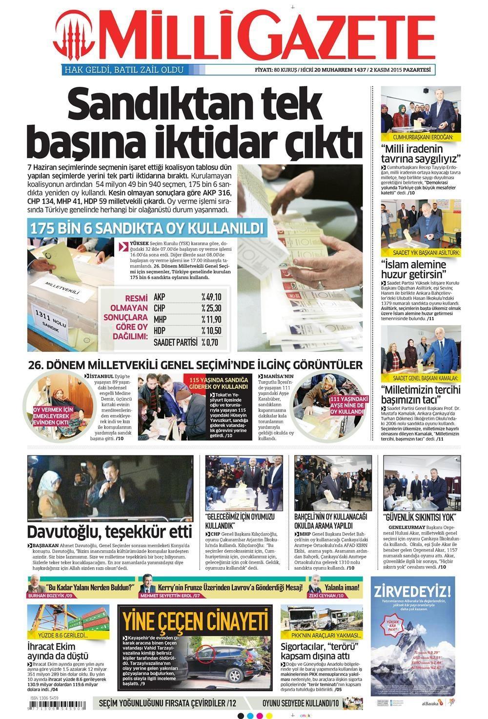 Seçim manşetleri 9