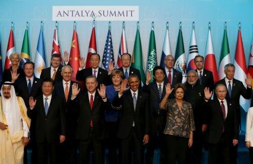 G20 Liderler Zirvesi'nin aile fotoğrafı 4