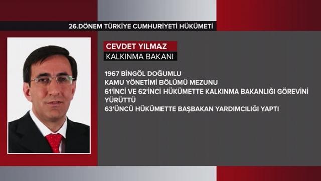 Türkiye Cumhuriyeti 64. Hükümeti 11