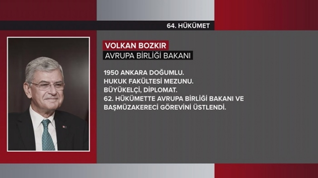 Türkiye Cumhuriyeti 64. Hükümeti 27