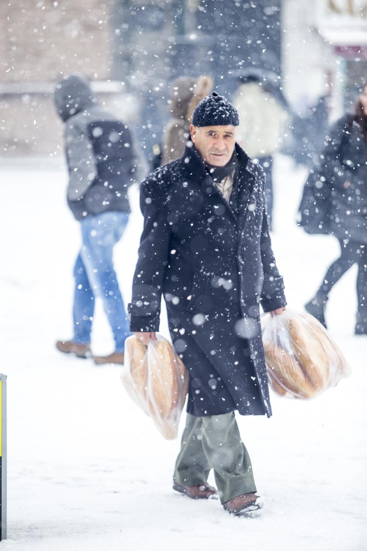 Konya'da kar yağışı 17