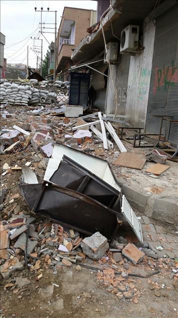 Terör örgütü PKK'nın Silopi'deki tahribatı ortaya çıktı 1