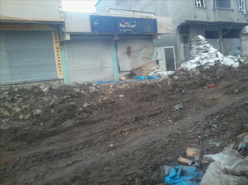 Terör örgütü PKK'nın Silopi'deki tahribatı ortaya çıktı 12
