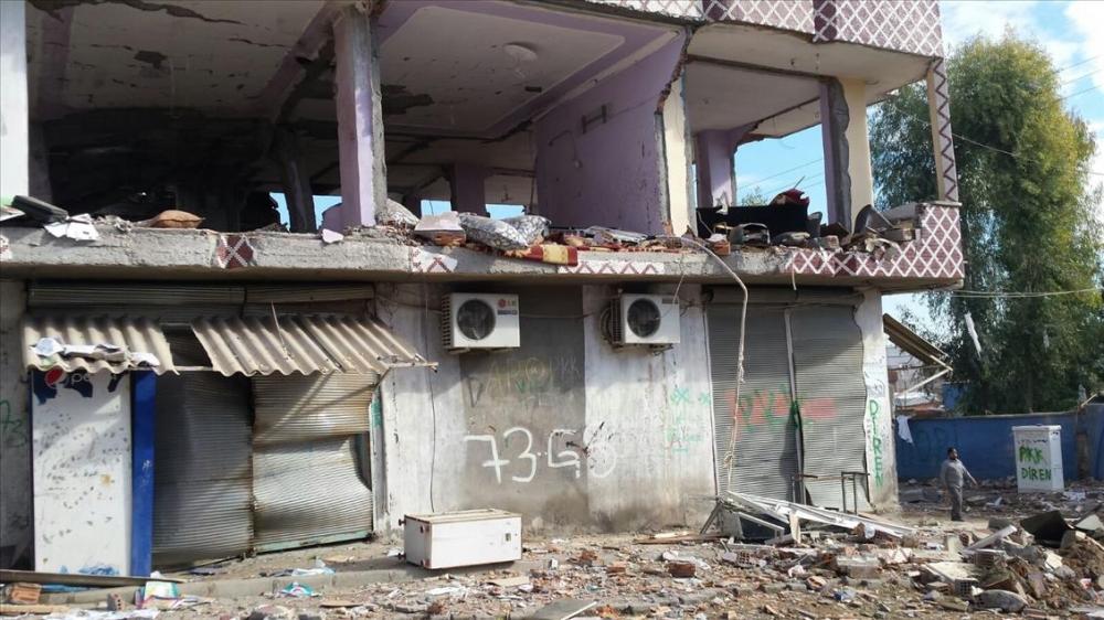 Terör örgütü PKK'nın Silopi'deki tahribatı ortaya çıktı 14