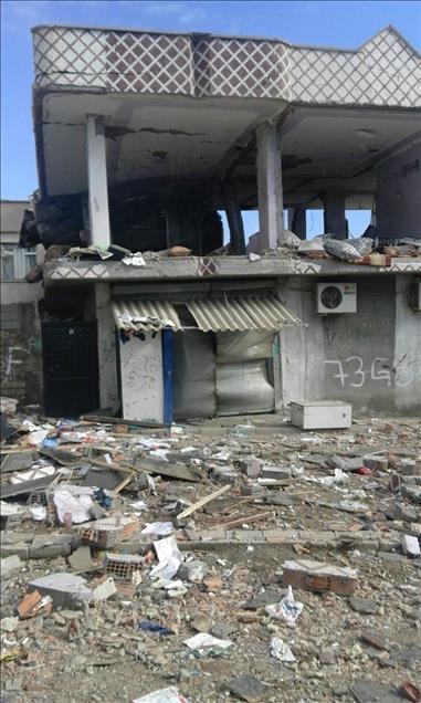 Terör örgütü PKK'nın Silopi'deki tahribatı ortaya çıktı 6