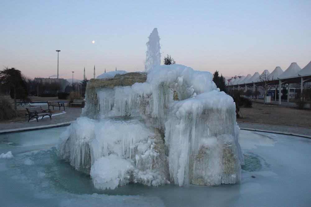 Konya buz tuttu 3