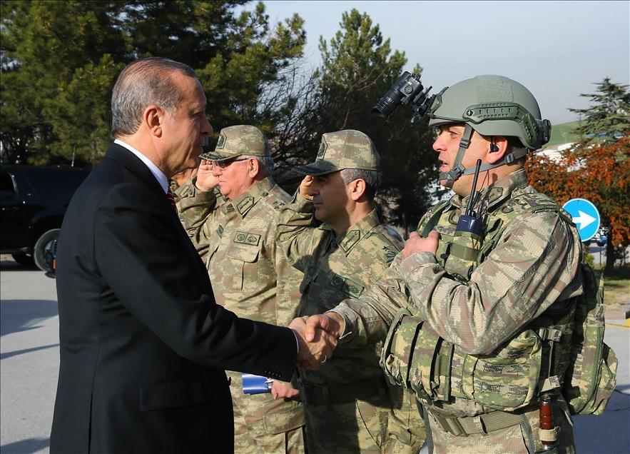 Cumhurbaşkanı Erdoğan'dan güvenlik güçlerine ziyaret 4