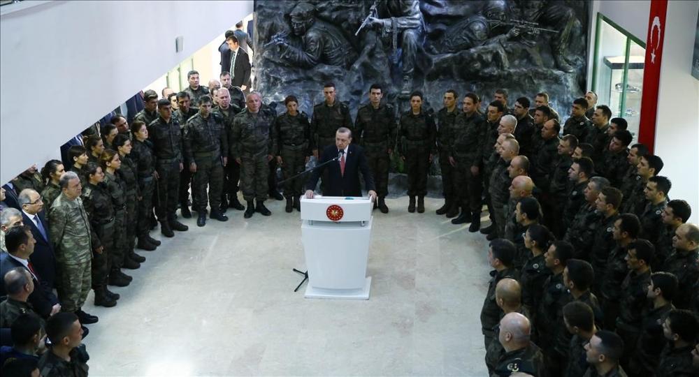 Cumhurbaşkanı Erdoğan'dan güvenlik güçlerine ziyaret 6