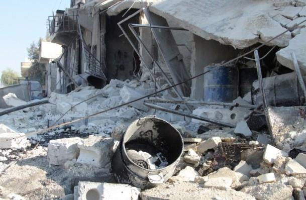 Halep'te varil bombalı saldırı 16