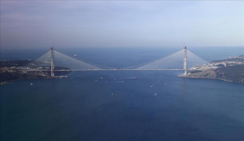 Yavuz Sultan Selim Köprüsü'nde son tabliye yerleştirildi 6