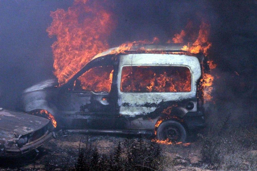 Konya'da 70 araç kül oldu 2