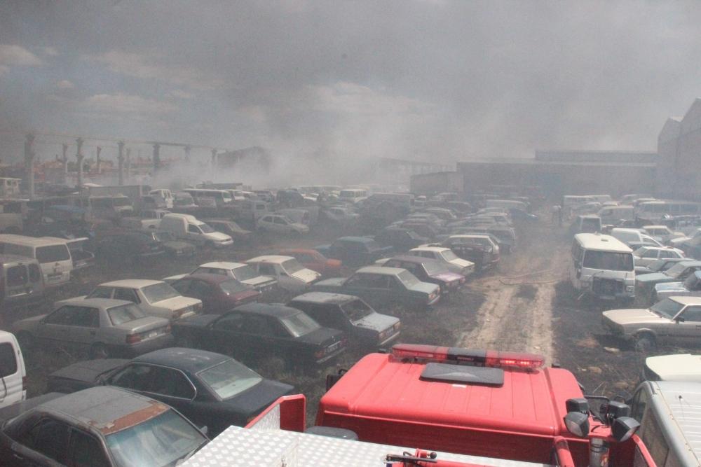 Konya'da 70 araç kül oldu 6