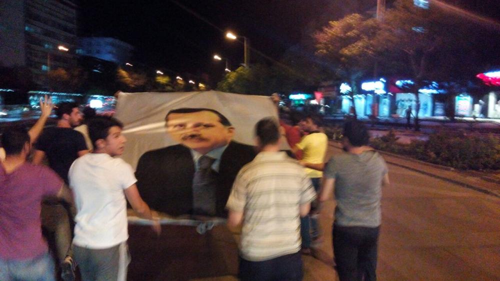 Konya'da halk tepki için sokağa döküldü 7