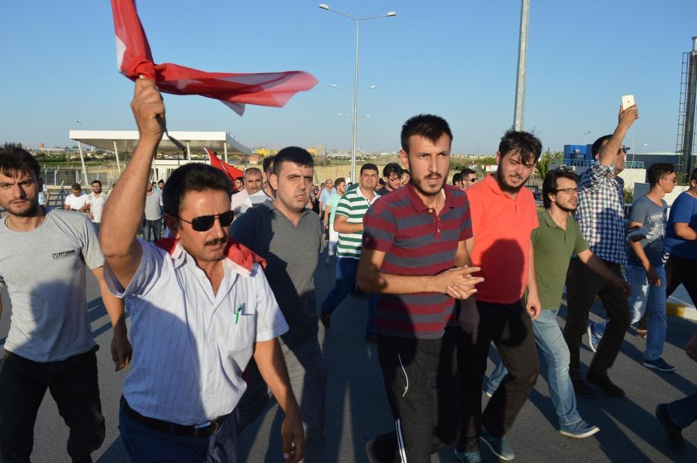 Konya'daki operasyona vatandaşlardan destek 13
