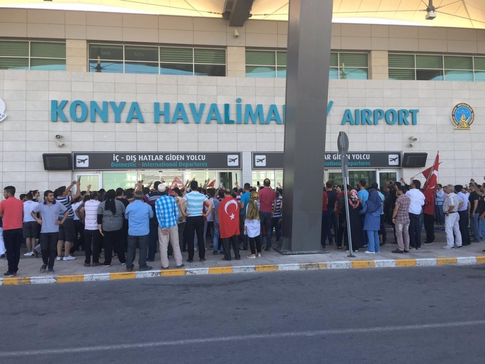 Konya'daki operasyona vatandaşlardan destek 3