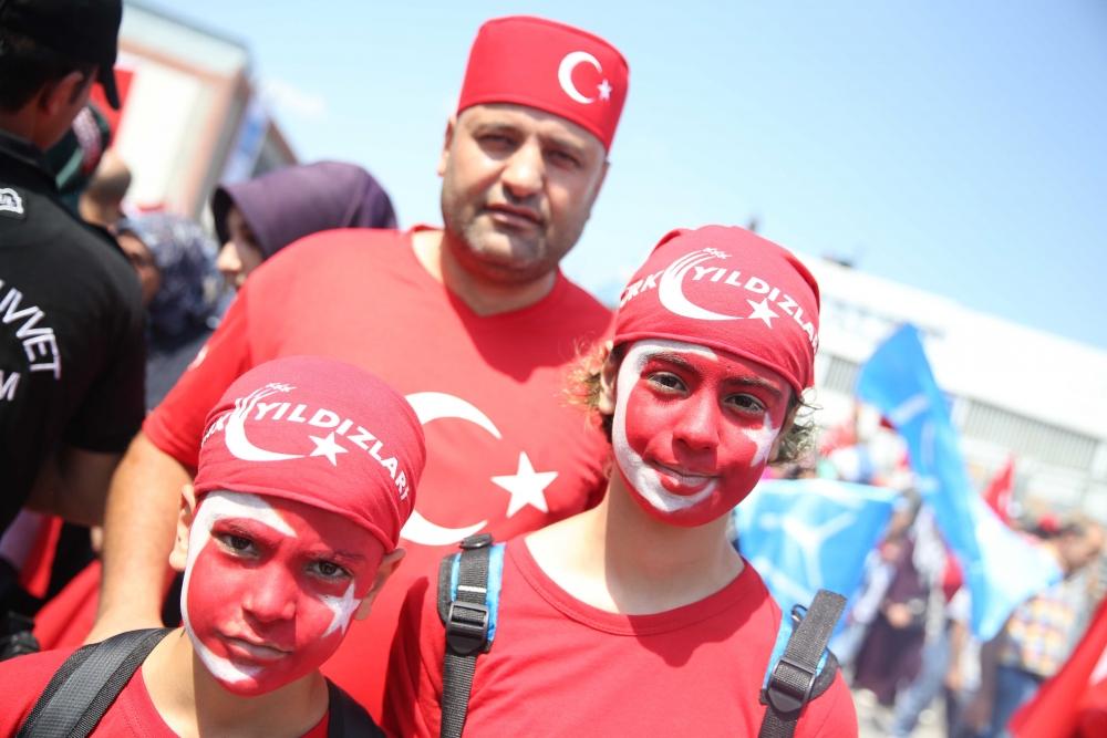 Yenikapı'daki tarihi mitingden kareler... 2