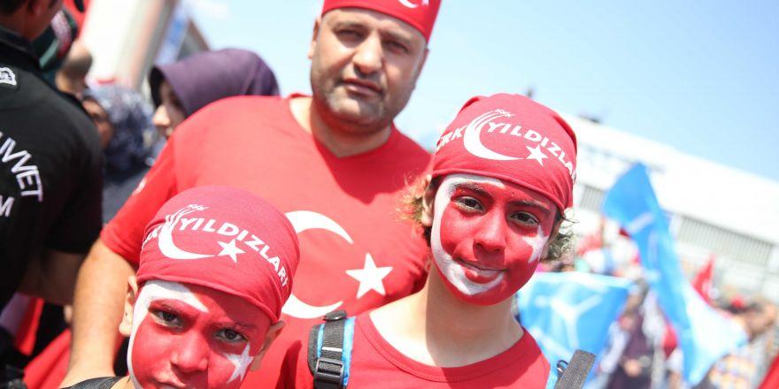 Yenikapı'daki tarihi mitingden kareler...