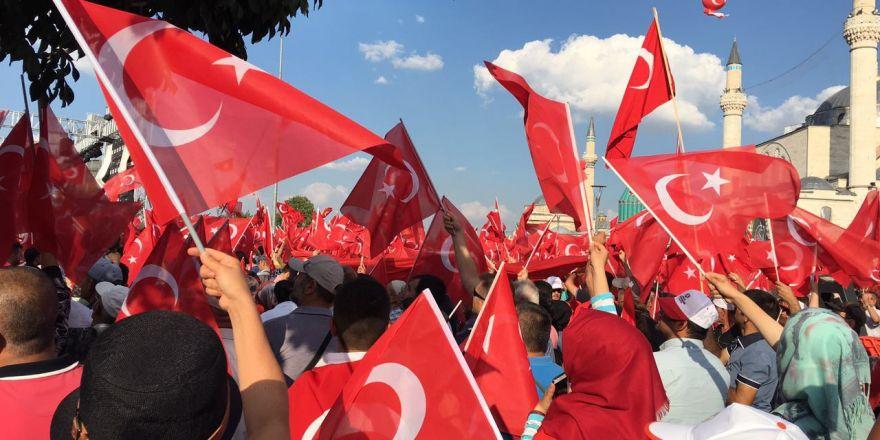 Yenikapı coşkusu Konya'ya yayıldı
