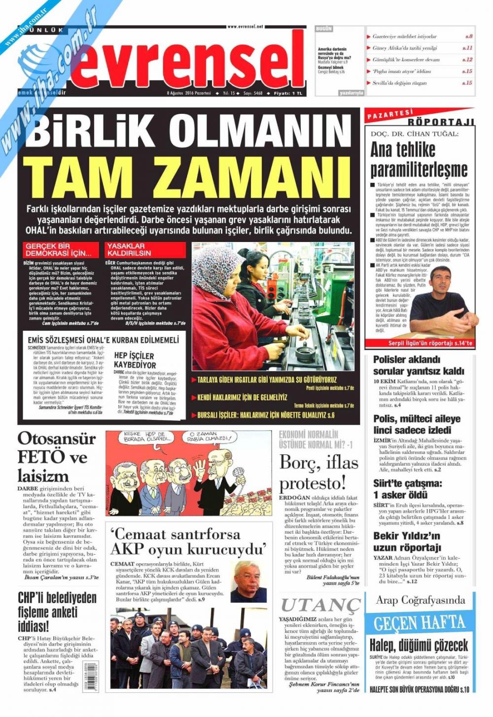 Gazeteler tarihi Yenikapı Mitingi'ni böyle gördü 4