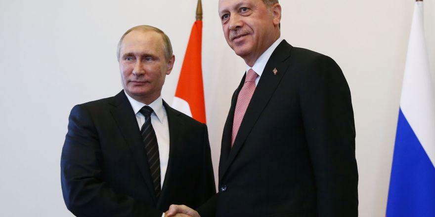 Erdoğan ile Putin görüşmesinden fotoğraflar