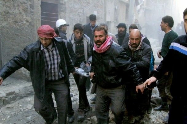 """Halep'e """"varil bombalı"""" saldırılar 1"""