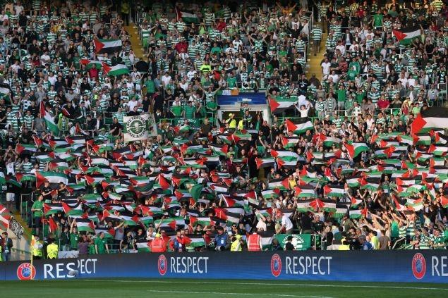 Celtic taraftarı Filistin bayrağı açtı 3