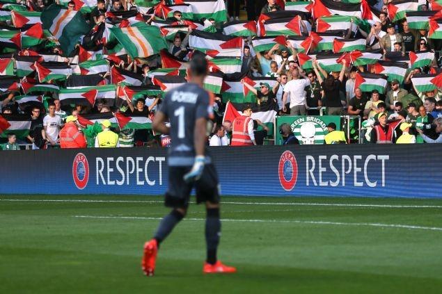 Celtic taraftarı Filistin bayrağı açtı 4