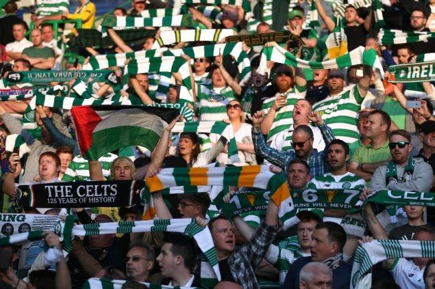 Celtic taraftarı Filistin bayrağı açtı 5