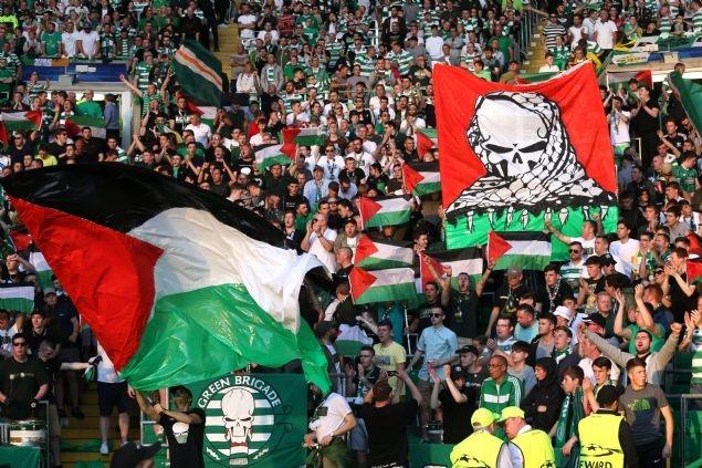 Celtic taraftarı Filistin bayrağı açtı 8