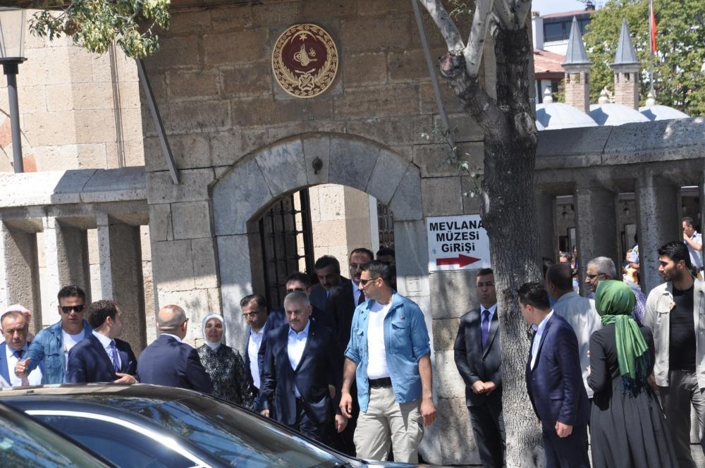 Başbakan Binali Yıldırım,Mevlana Müzesi'ni ziyaret etti 4