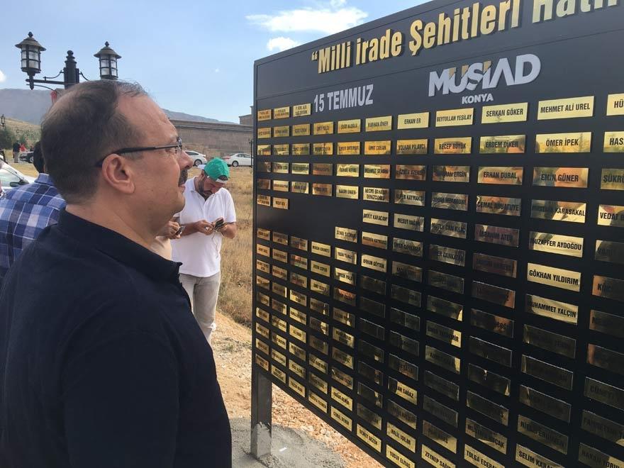 MÜSİAD Konya milli irade şehitlerinin adını yaşatıyor 15