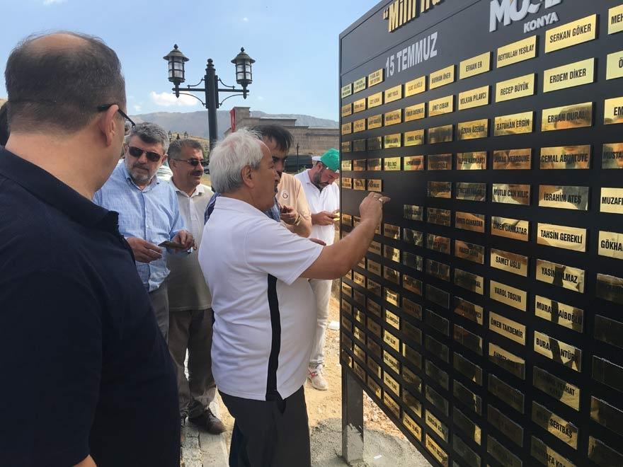 MÜSİAD Konya milli irade şehitlerinin adını yaşatıyor 17