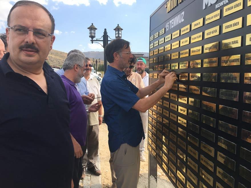 MÜSİAD Konya milli irade şehitlerinin adını yaşatıyor 18
