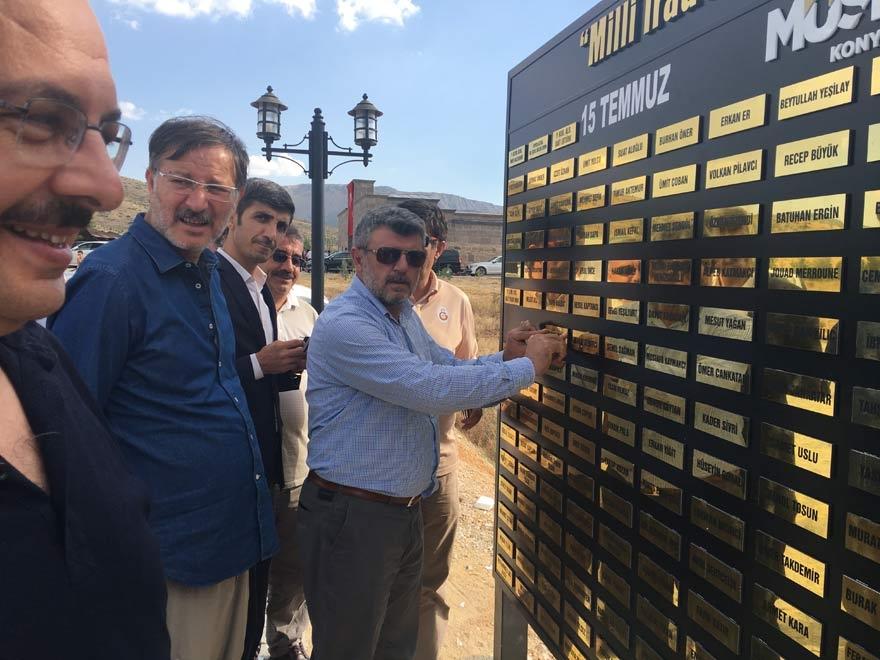 MÜSİAD Konya milli irade şehitlerinin adını yaşatıyor 20