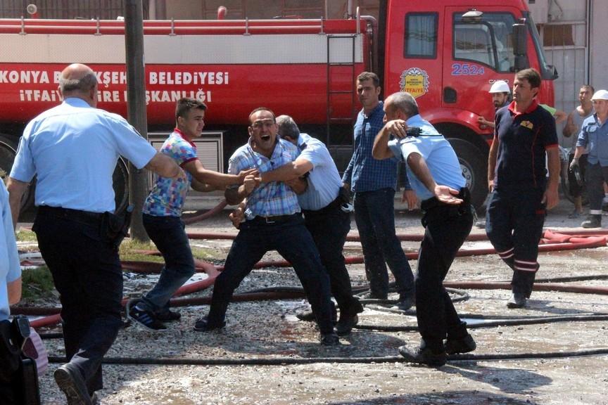 Konya'da işyerinde çıkan yangında bir çocuk yanarak can verdi 4