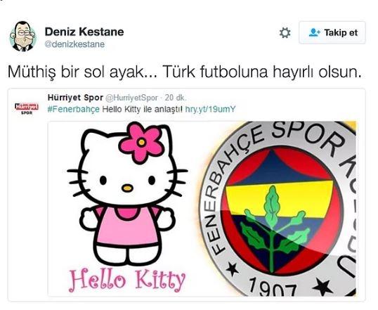 Fenerbahçe'nin Hello Kitty ile anlaşmasının ardından yapılan mizahl 11