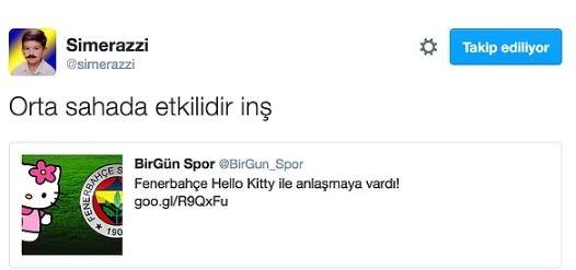 Fenerbahçe'nin Hello Kitty ile anlaşmasının ardından yapılan mizahl 13