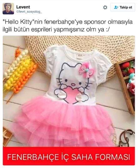 Fenerbahçe'nin Hello Kitty ile anlaşmasının ardından yapılan mizahl 16