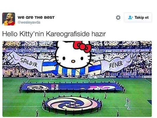 Fenerbahçe'nin Hello Kitty ile anlaşmasının ardından yapılan mizahl 3