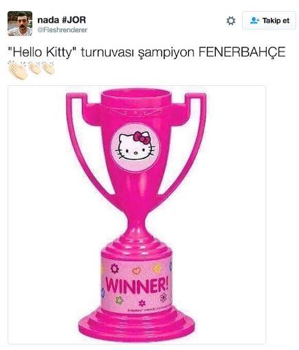 Fenerbahçe'nin Hello Kitty ile anlaşmasının ardından yapılan mizahl 8