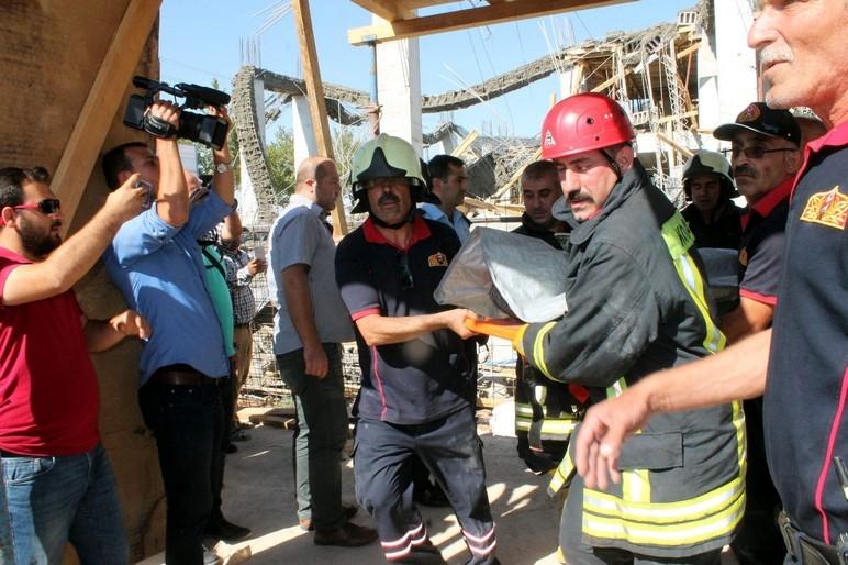 Konya'da okul inşaatında göçük: 1 ölü 6