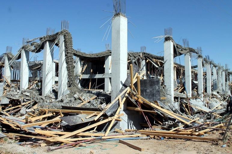 Konya'da okul inşaatında göçük: 1 ölü 8