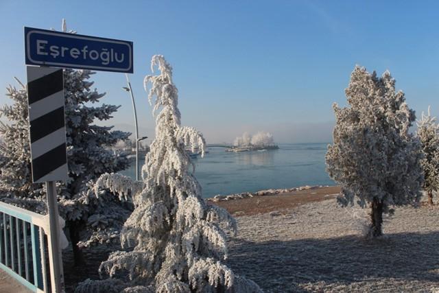 Beyşehir Gölü beyaz gelinliğini giydi 4
