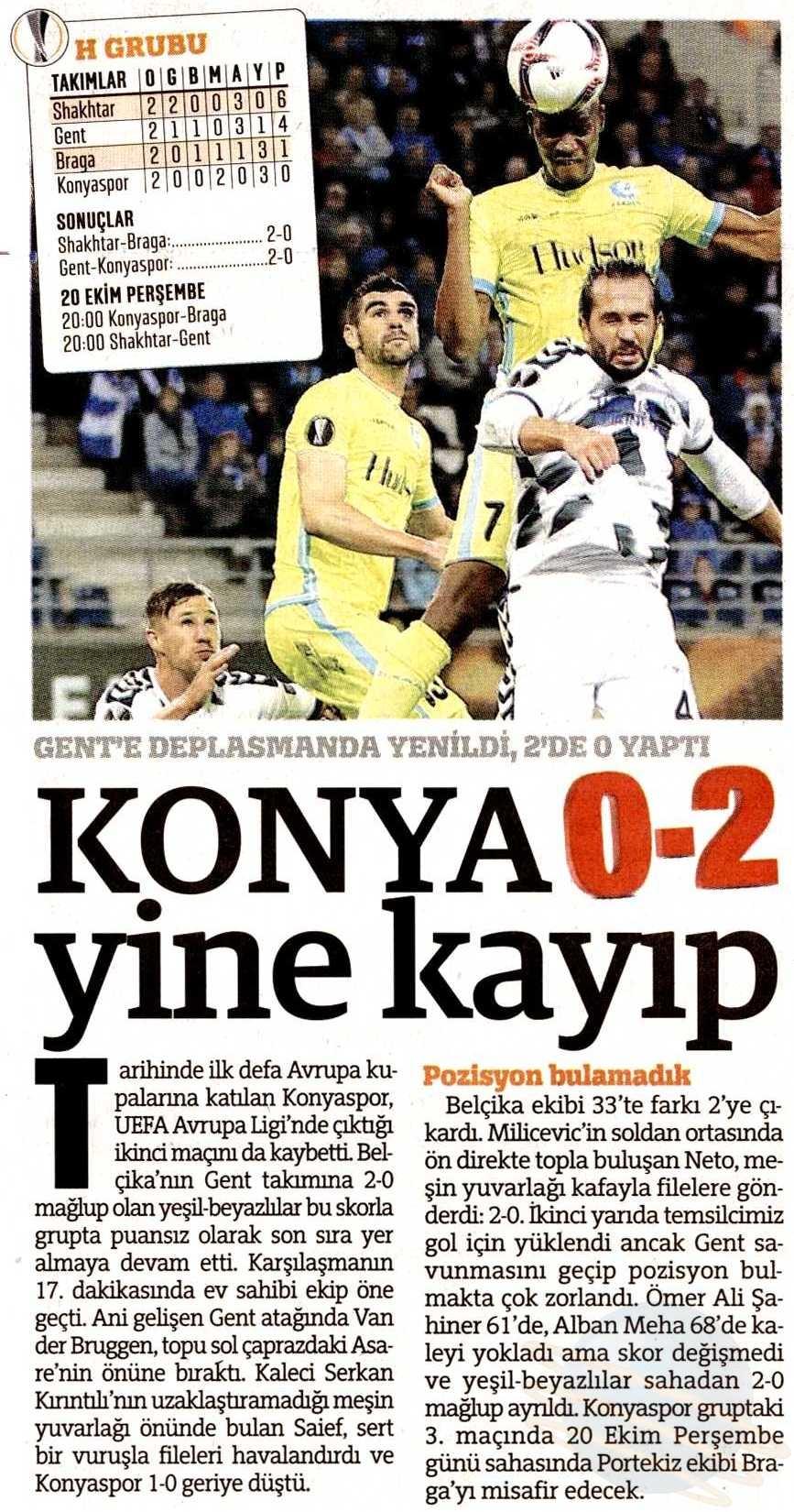KAA Gent-Atiker Konyaspor maçının basına yansımaları 10